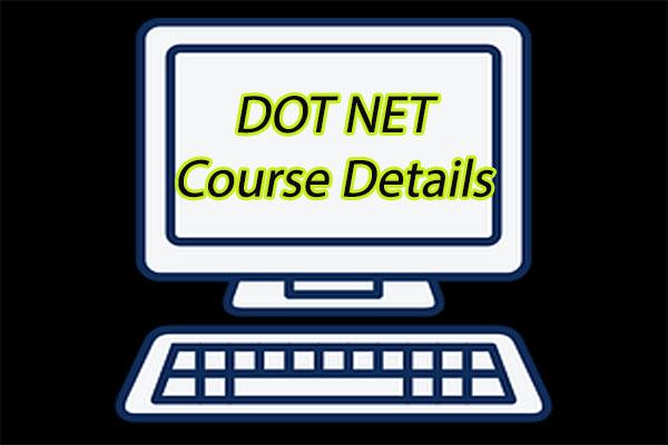 Dot Net Course Details
