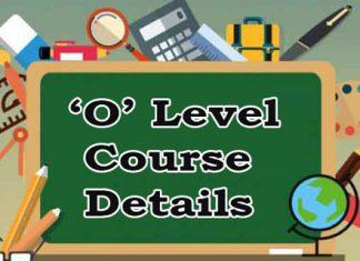 O Level Course Details
