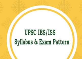 UPSC IES/ISS Syllabus and Exam Pattern