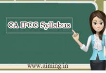 CA IPCC Syllabus