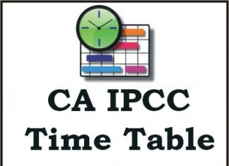 CA IPCC Time Table