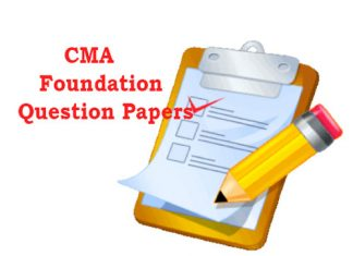 CMA Foundation Question Papers