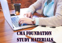 CMA Foundation Study Materials