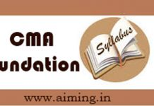 CMA Foundation Syllabus