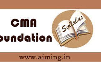 CMA Foundation Syllabus