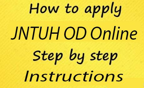 JNTUH OD Apply Process