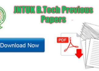 JNTUK B.Tech Previous Papers