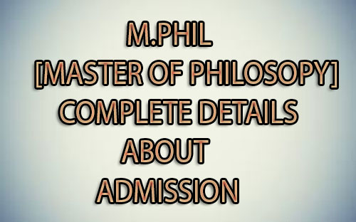 M.Phil Course
